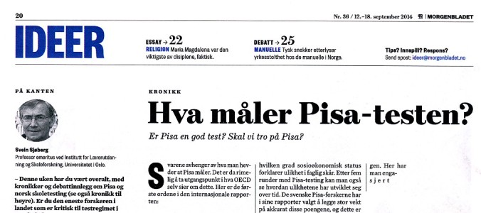 Pisa-Morgenbladet_Sjoberg_12sept2014