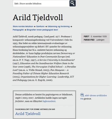 Arild Tjeldvoll
