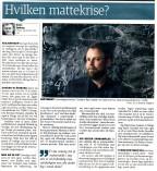 Hvilken mattekrise? (Dagbladet 22/9 2015)